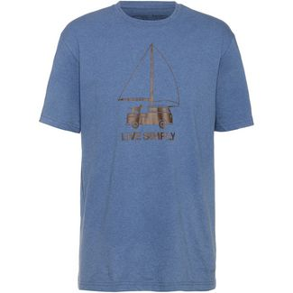 Patagonia Live Simply Wind-Powered T-Shirt Herren woolly blue
