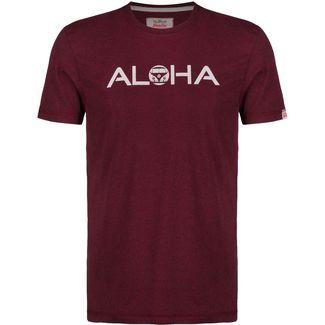 VAN ONE Aloha VW Bulli T-Shirt Herren bordeaux