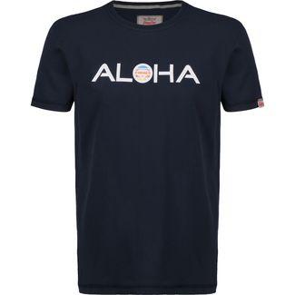 VAN ONE Aloha Retro VW Bulli T-Shirt Herren dunkelblau