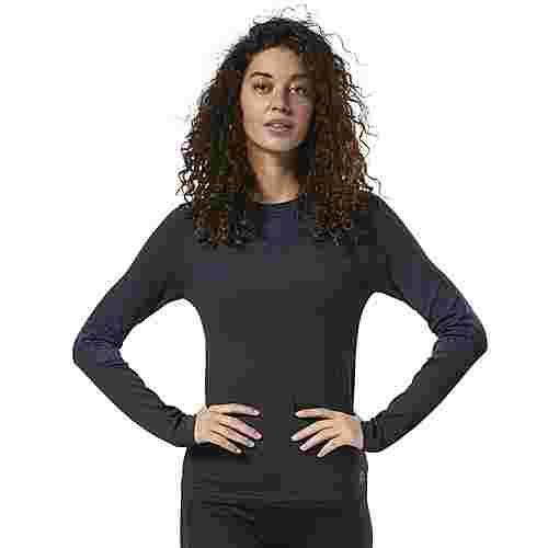 Reebok OS THERMOWARM BASE LS Funktionsshirt Damen Black / Midnight Ink