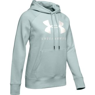 Under Armour Rival Hoodie Damen green