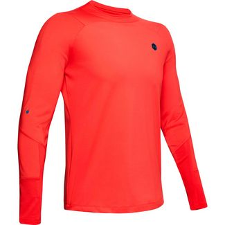 Under Armour Rush Mock Funktionsshirt Herren red