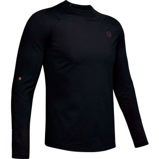 Under Armour Rush Mock Funktionsshirt Herren black