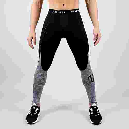 MOROTAI Functional Running Tights Leggings Herren Grau Melange