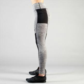 MOROTAI High Waist Inner Mesh Tights Leggings Damen Grau Melange / Schwarz