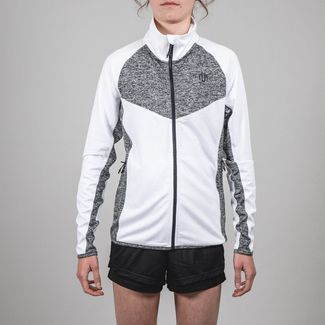 MOROTAI Performance Running Jacket Funktionsjacke Damen Weiß / Grau Melange