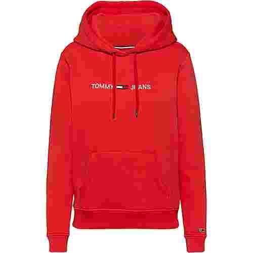 Tommy Jeans Hoodie Damen flame scarlet