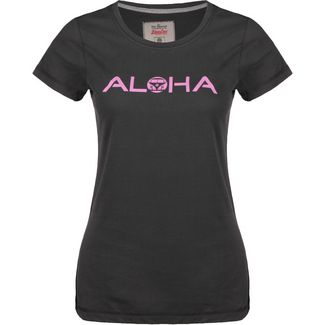 VAN ONE Aloha VW Bulli T-Shirt Damen schwarz