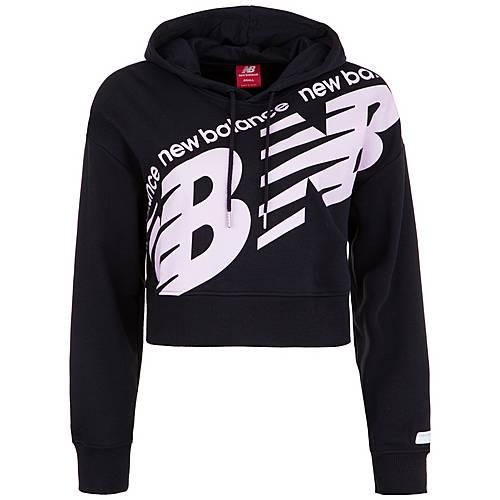 NEW BALANCE Athletics Cropped Hoodie Damen schwarz rosa im Online Shop von SportScheck kaufen