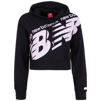 NEW BALANCE Athletics Cropped Hoodie Damen schwarz / rosa