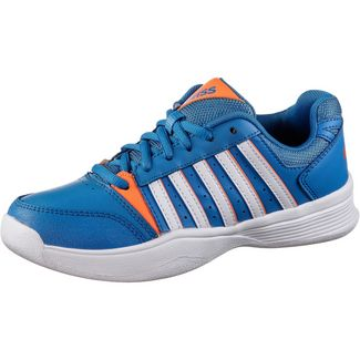 K-Swiss Court Smash Carpet Tennisschuhe Kinder brilliant blue-white-neon oran