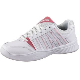 K-Swiss Court Smash Carpet Tennisschuhe Kinder white-pink lemonade-gull gray