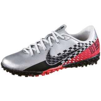 Nike JR MERCURIAL VAPOR 13 ACADEMY NJR TF Fußballschuhe Kinder chrome-black-red orbit-platinum tint-white
