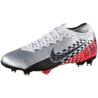 Nike JR MERCURIAL VAPOR 13 ELITE NJR FG Fußballschuhe Kinder chrome-black-red orbit-platinum tint-white