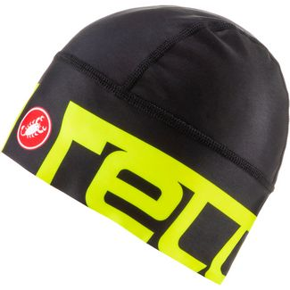 castelli VIVA 2 THERMO Helmmütze black-yellow fluo