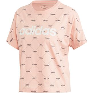 adidas Core Fav T-Shirt Damen glow pink-black