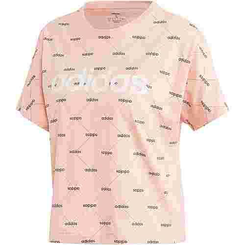 adidas Core Fav T-Shirt Damen glow pink-black
