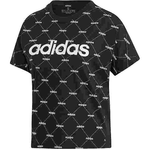 adidas Core Fav T-Shirt Damen black-white