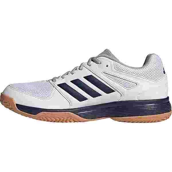 adidas Speedcourt Hallenschuhe Herren ftwr white-collegiate navy-gum 2