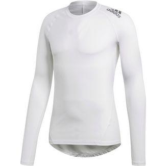adidas Alphaskin Langarmshirt Herren white