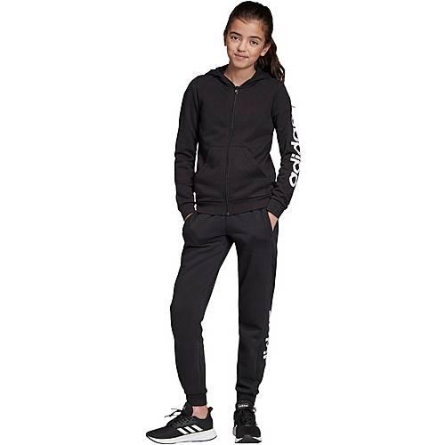 adidas YG E LIN FZ HD Hoodie Mädchen black im Online Shop von SportScheck kaufen