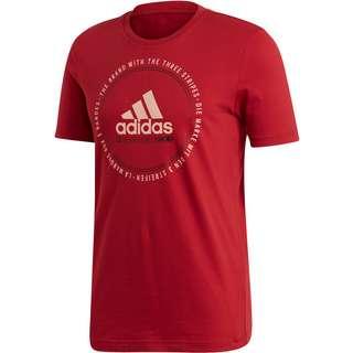 adidas MH EMBLEM T-Shirt Herren active maroon