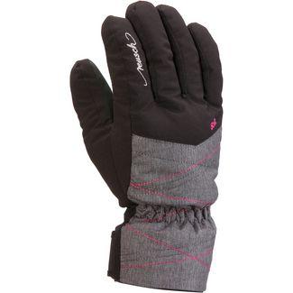 Reusch Aimée Skihandschuhe Kinder black-grey-melange-pink-glo