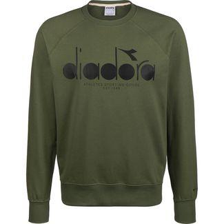 Diadora 5 Palle Crew Sweatshirt Herren dunkelgrün / schwarz