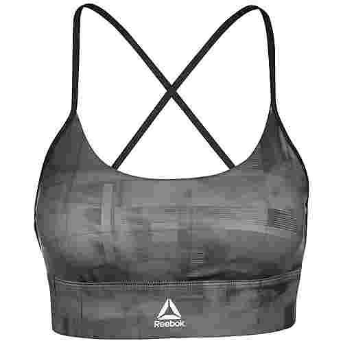Reebok Meet You There Low-Impact Workout Sport-BH Damen schwarz / grau
