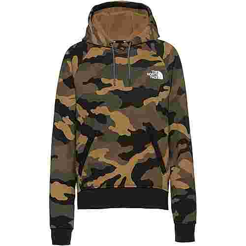The North Face Nse Graphic Hoodie Damen burnt olive green woods camo print