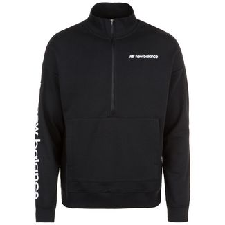 NEW BALANCE Sport Style Optiks 1/4 Zip Sweatshirt Herren schwarz / weiß