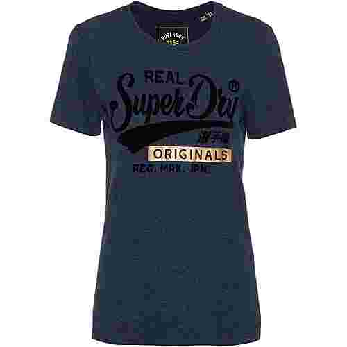 Superdry T-Shirt Damen rugged navy