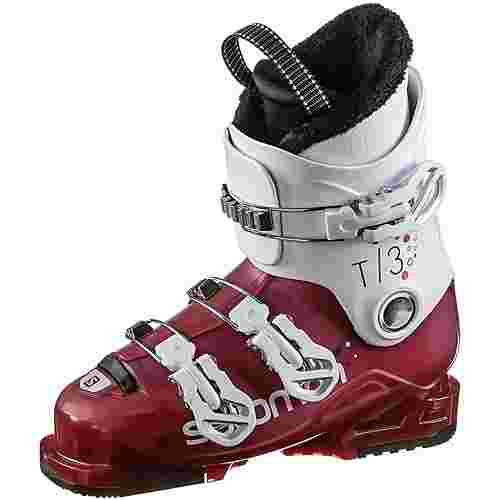 Salomon T3 RT Skischuhe Kinder girly pink-white
