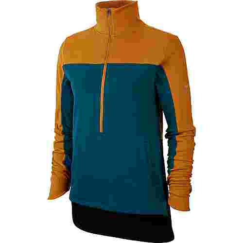 Nike Repel Funktionsshirt Damen gold suede-midnight turq-reflective silver