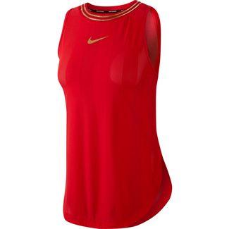 Nike Glam Funktionstank Damen university red-metallic gold