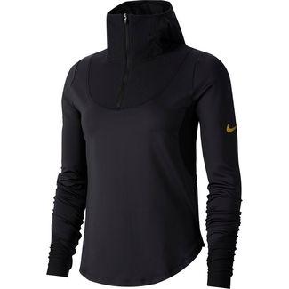 Nike Glam Funktionsshirt Damen black-metallic gold