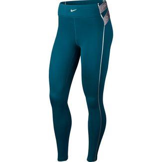 Nike Hyperwarm Tights Damen midnight turq-metallic silver