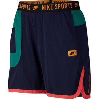Nike Dry Funktionsshorts Herren blackened blue-mystic green-kumquat
