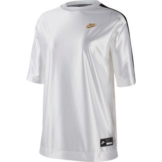 Nike NSW Glam Dunk T-Shirt Damen white-black
