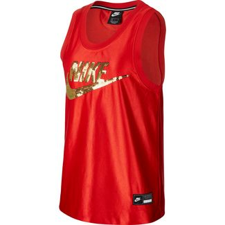Nike NSW Glam Dunk Tanktop Damen university red-metallic gold