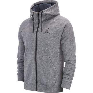 Nike Herren Jordan Flight Hoodie, Carbon HeatherWhite, M