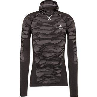 Odlo Bl Top With Facemask L /S Blackcomb Funktionsshirt Herren black-steel grey-silver