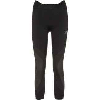 Odlo Bl Bottom 3/4 Performance Warm Funktionsunterhose Damen black-concrete grey