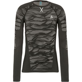 Odlo Bl Top Crew Neck L/S Blackcomb Funktionsshirt Herren black-steel grey-silver