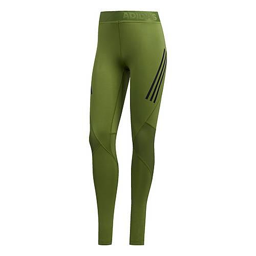 adidas Alphaskin Sport 3 Streifen lange Tight Tights Damen Tech Olive im Online Shop von SportScheck kaufen
