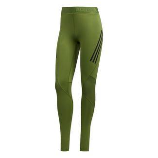 adidas Alphaskin Sport 3-Streifen lange Tight Tights Damen Tech Olive