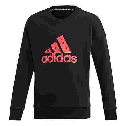 adidas Must Haves Badge of Sport Sweatshirt Sweatshirt Kinder Black / Real Pink