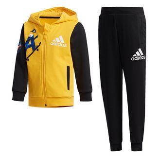 adidas LK GFX HDY SET Trainingsanzug Kinder Active Gold / Black