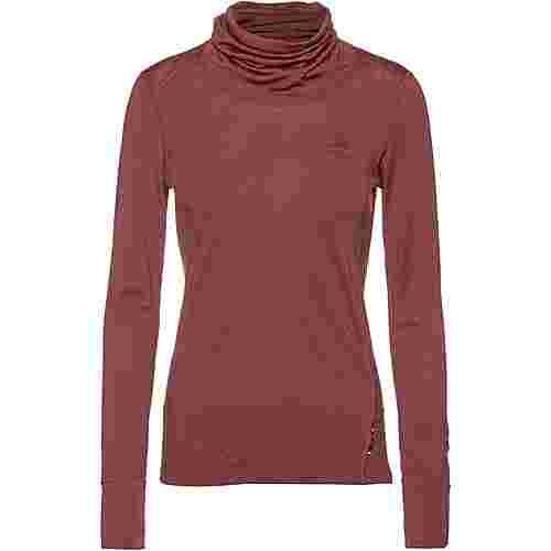 Odlo WARM MERINO Unterhemd Damen roan rouge-grey melange