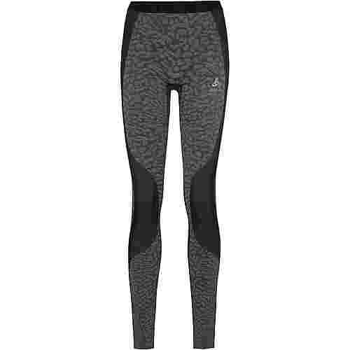 Odlo Bl Bottom Long Blackcomb Funktionsunterhose Damen black-steel grey-silver